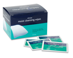 Moist Saline Cleansing Wipes